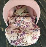 Maxi Cosi dekje bloemen roze