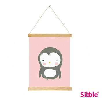 Digitale poster Pinguin - pink