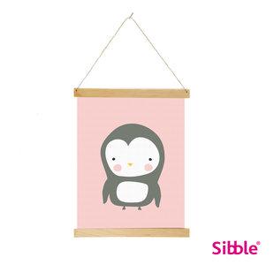Digitale poster Pinguin - pink